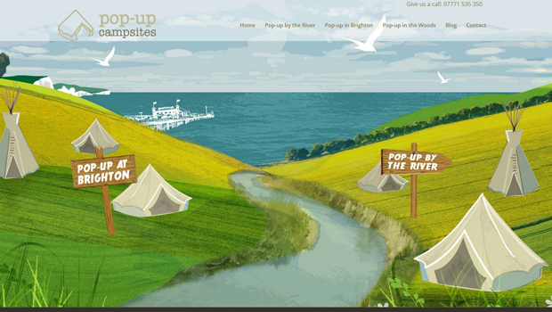 pop-up campsites site design