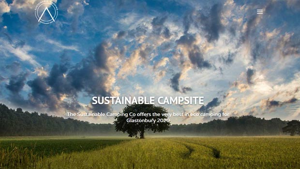 sustainable camping and glamping glastonbury